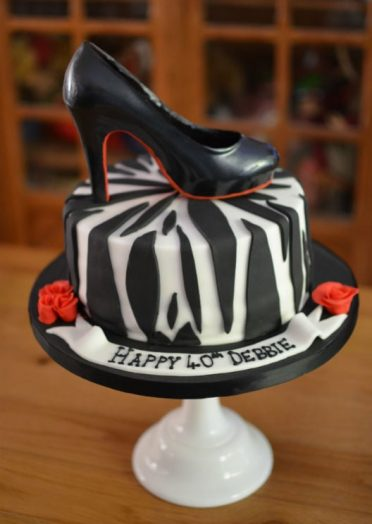 Chocolate Louboutin shoe cake
