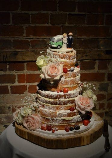 Naked cake at Highcliffe Castle