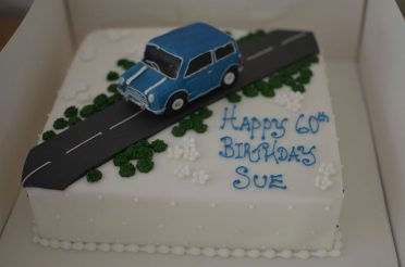 Classic Mini car cake