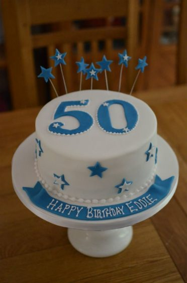 50th birthday cake with stars