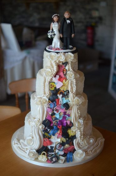Dulcie cake Individual wedding cake designed by the bride.