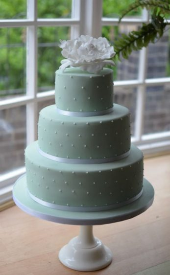 Peppermint polka dot wedding cake