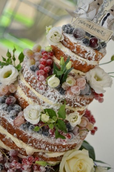 Naked wedding cake at Highcliffe Castle