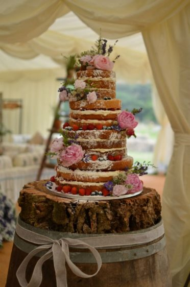 Large naked cake at Bridport.