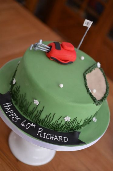 Golf cake 40th birthday cake