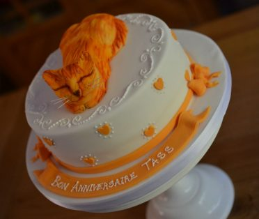 Ginger cat cake