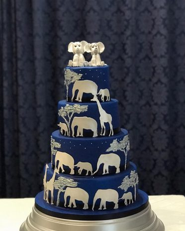 Serengeti Night wedding cake at The Dudsbury