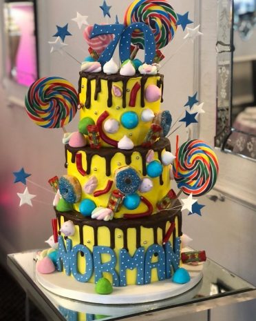Lollipops drip cake at Lord Bute