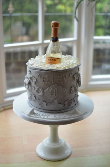 Ice bucket birthday cake
