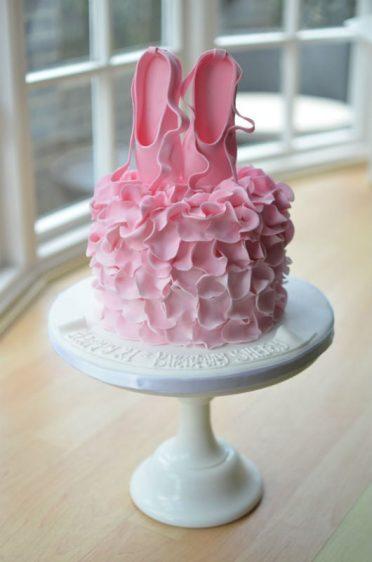 Ballet ruffles cake
