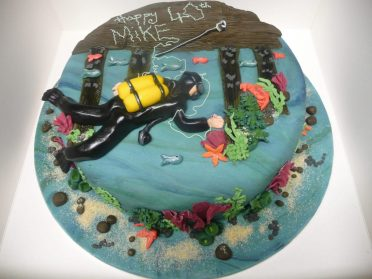 Divers birthday cake