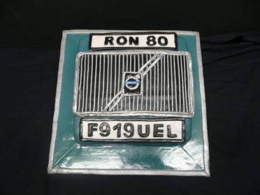Volvo front grille cake