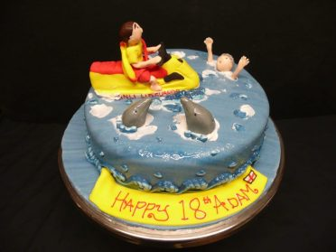 Lifeguard cake
