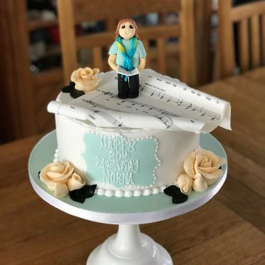 Choir singer birthday cake