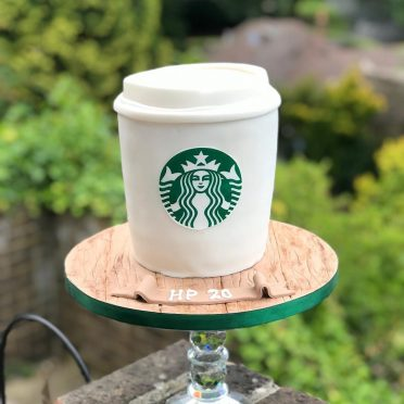 Starbucks coffee cup cake