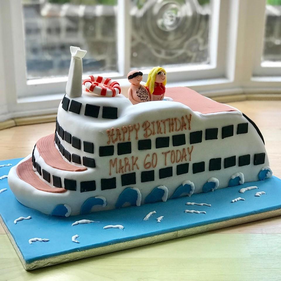 Wondrous Cruise Ship Birthday Cake Funny Birthday Cards Online Inifofree Goldxyz