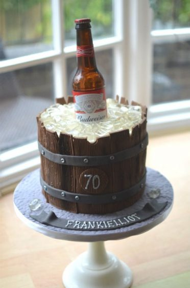 Ice beer bucket cake