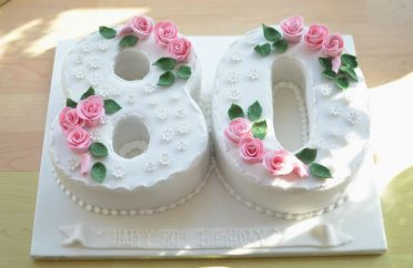 80th Roses Birthday Cake