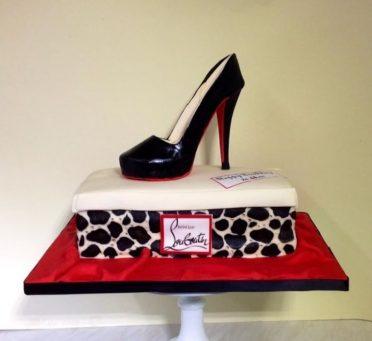 Handmade sugar Louboutin shoe cake