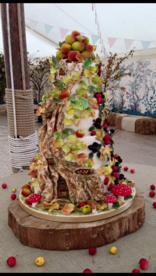 Brambly Hedge wedding cake in Wiltshire