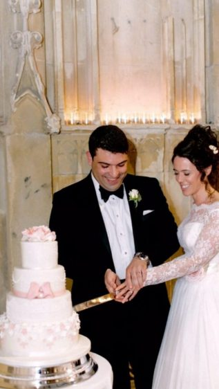 Cake cutting at Highcliffe Castle