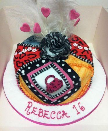 Textures birthday cake