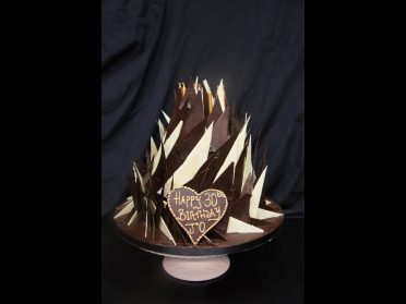 Belgian Chocolate spiky cake