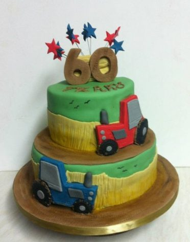 Farmers tractor cake