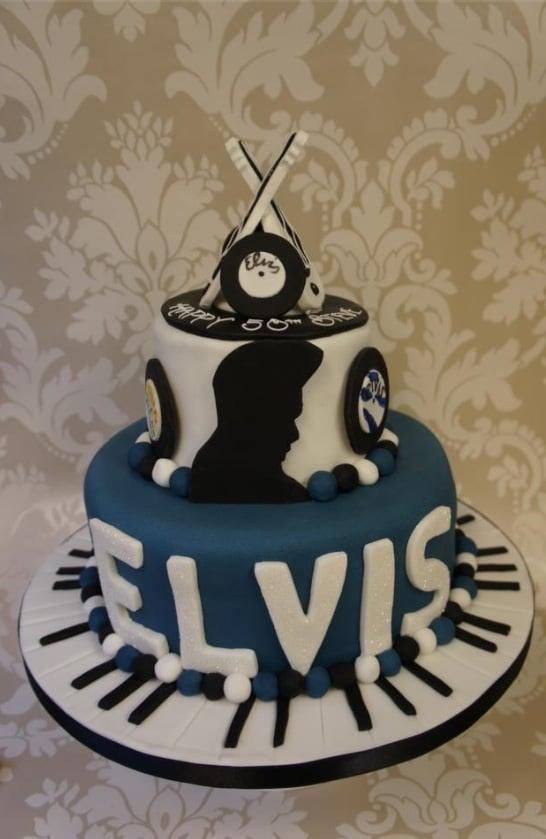 Super Elvis Birthday Cake Birthday Cards Printable Opercafe Filternl