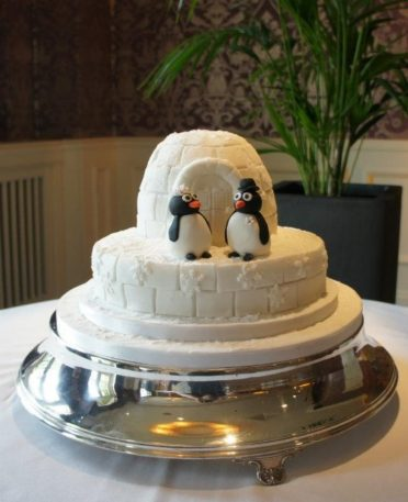 Igloo wedding cake