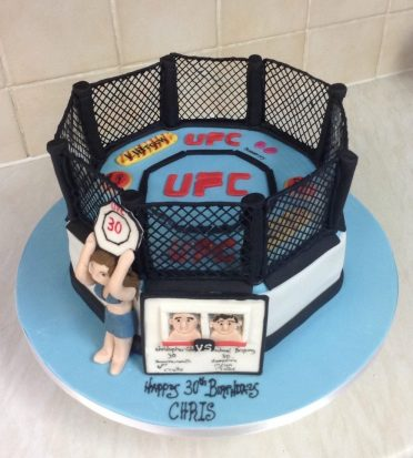 Cage fighter UFC cake