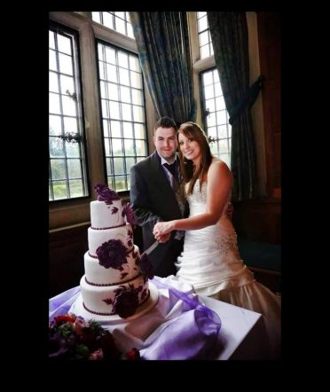 Bride & groom at Rhinefield House