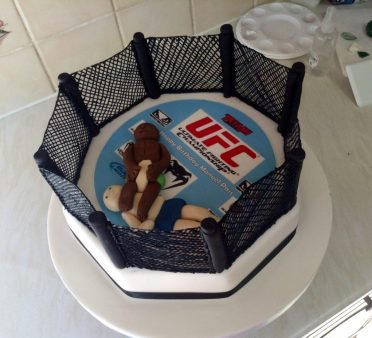 UFC Cage fighter cake
