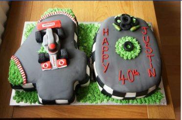 Racing cake 40th