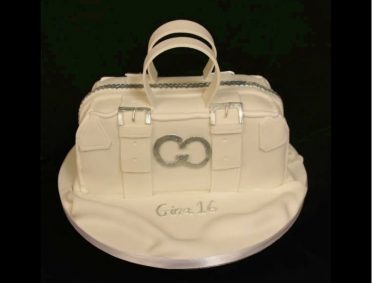 White handbag cake