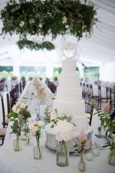 White lace five tier at Smedmore House Kimmeridge