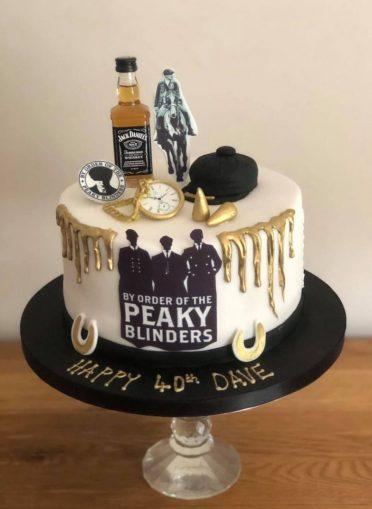 Peaky Blinders cake. No fighting!