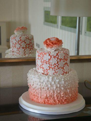 Lace & Ruffles wedding cake