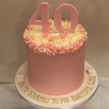 Pink 40th cake