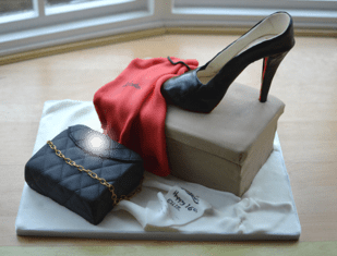 Shoe box & bag cake