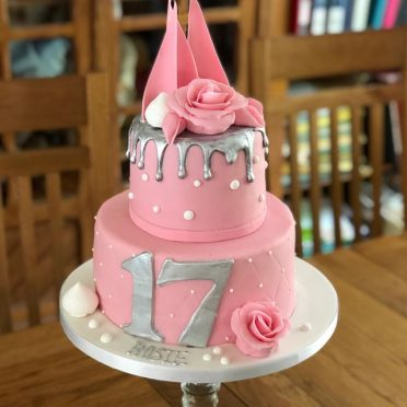 Silver pink cake