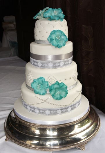 Turquoise & silver at Bartley Lodge Hotel
