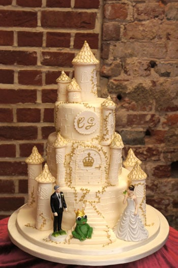 Castle wedding cake Highcliffe Castle