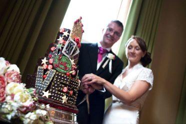 Chocolate las Vegas wedding cake
