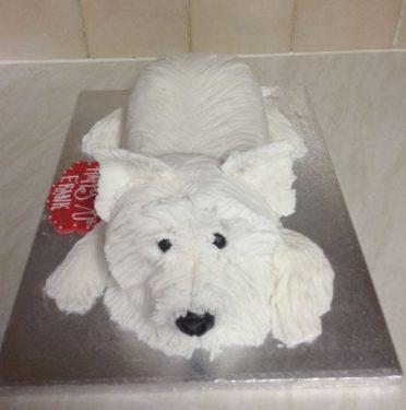 white-dog-cake