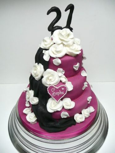 white-purple-cake