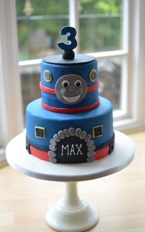 Terrific Thomas The Tank Engine Birthday Cake Personalised Birthday Cards Sponlily Jamesorg