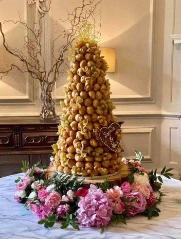 Croquembouche at Brympton House Somerset