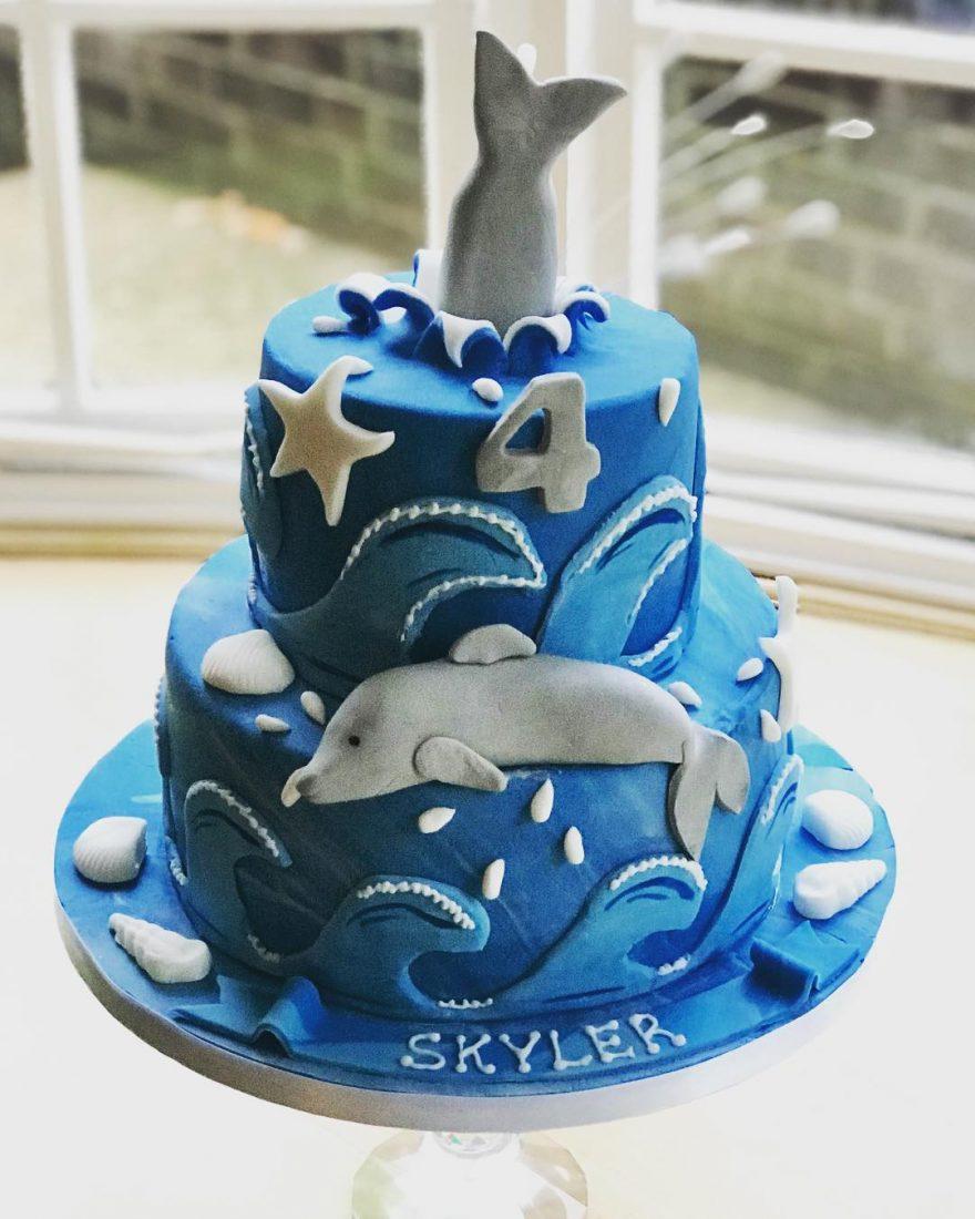 Fabulous Dolphin Birthday Cake Funny Birthday Cards Online Alyptdamsfinfo