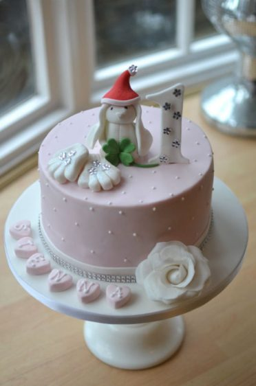1st birthday cake Christmas eve.